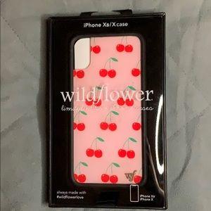 Wildflower iPhone Xs/X case🍒